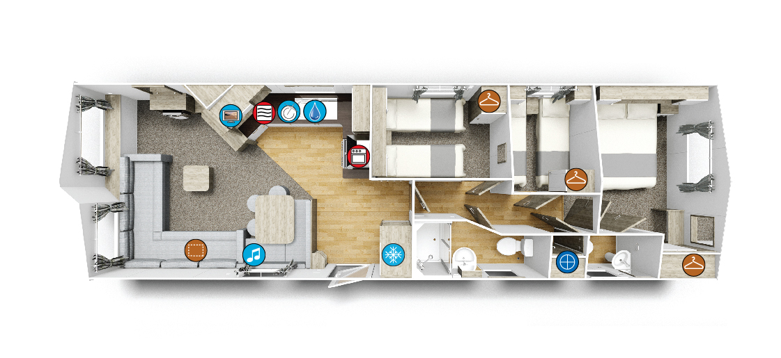 Willerby Skye Floorplan